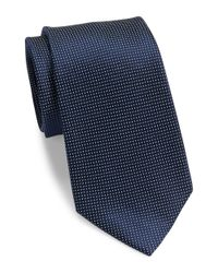 DKNY | Blue Tobiko Woven Silk Tie for Men | Lyst
