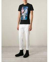 Iceberg - White Cropped Trousers for Men - Lyst