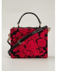 b1b477d12bf2 Dolce   Gabbana Dolce Floral-Print Shoulder Bag in Black - Lyst
