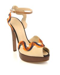 Vionnet - Natural Rik-rak Trim Shoes - Lyst