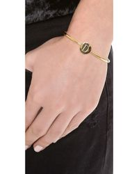 Sarah Chloe | Metallic Ella Engraved Adjustable Bracelet | Lyst