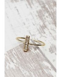 Forever 21 | Metallic Shashi Tracy North South Ring | Lyst