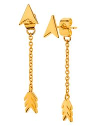 Gorjana | Metallic Arrow Chain Double Stud Earrings | Lyst