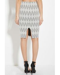 Forever 21 - Natural Geo Pattern Pencil Skirt - Lyst