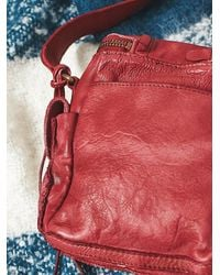 Free People - Red Latigo Leathers Womens Clover Pocket Crossbody - Lyst