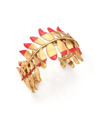 Tory Burch - Red Fern Cuff Bracelet/goldtone - Lyst