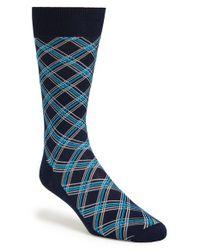 Canali - Black Argyle Socks for Men - Lyst
