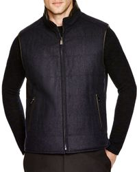 Corneliani - Blue Reversible Vest for Men - Lyst