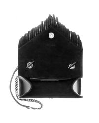Saint Laurent - Black Classic Monogram Leather Shoulder Bag - Lyst