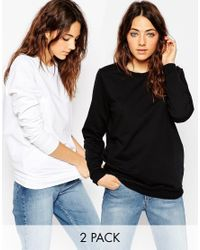 ASOS - Multicolor The Ultimate Boyfriend Sweat - 2 Pack Save 10% - Lyst