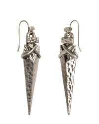 Tory Burch | Metallic Arrowhead Drop Earrings | Lyst