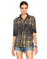 Bliss and Mischief - Blue Axel Button Up Top - Lyst