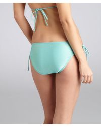 Shoshanna | Blue Turquoise Metallic String Bikini Bottoms | Lyst