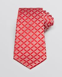 Valentino - Red Diamond Medallion Classic Tie for Men - Lyst