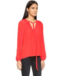 Ramy Brook - Red Paris Blouse - Flame - Lyst
