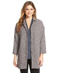 Gibson - Gray Plaid Snap Front Topper - Lyst