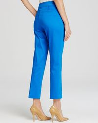 NYDJ | Blue Corynna Sateen Cropped Pants | Lyst