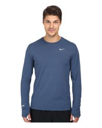 Nike | Blue Dri-fit™ Contour L/s Shirt for Men | Lyst