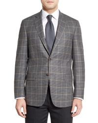 Hart Schaffner Marx - Gray Classic Fit Check Wool Sport Coat for Men - Lyst