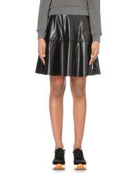 5cm - Black Faux-leather Skater Skirt - Lyst