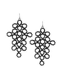 Emilio Pucci - Black Drop Earrings - Lyst