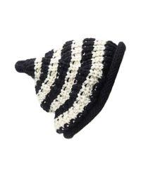 Forever 21 | Black Stripe Textured Fold-over Beanie | Lyst