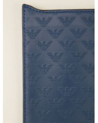 Emporio Armani - Blue Printed Phone Case - Lyst