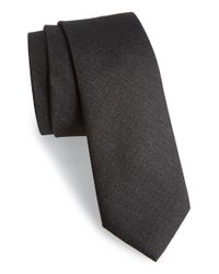 Calibrate - Black 'sunset' Solid Silk Tie for Men - Lyst