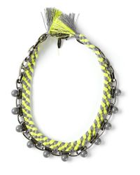 Joomi Lim | Green Beaded Braided Necklace | Lyst