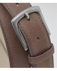 Reiss | Brown Kurzwell Slim Leather Belt for Men | Lyst