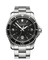Victorinox - Metallic Victorinox Swiss Army 'maverick' Chronograph Bracelet Watch for Men - Lyst
