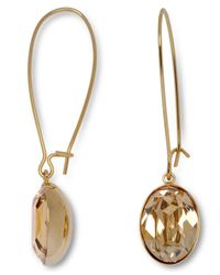 Swarovski - Metallic Crystal Golden Shadow Earrings - Lyst