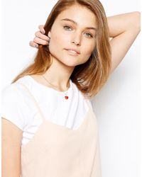 Orelia | Red Heart Necklace | Lyst