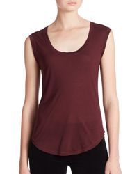 J Brand | Purple Seacliff Sleeveless Jersey Top | Lyst