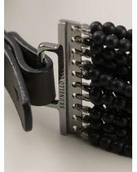 Brunello Cucinelli   Metallic Beaded Multi-strand Necklace   Lyst