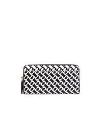Diane von Furstenberg | Black Voyage Zip Continental Leather Wallet | Lyst