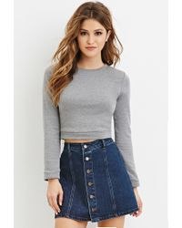Forever 21 | Gray Cotton-blend Sweater | Lyst