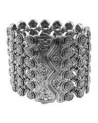 Konstantino | Metallic Sterling Silver Wide Citrine Cuff | Lyst