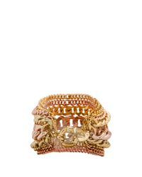 Giles & Brother - Metallic Multi Chain Bracelet in Rose - Lyst