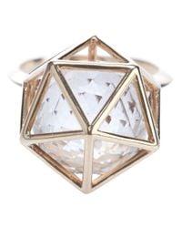Zoe & Morgan - Metallic Icosahedron Ring - Lyst