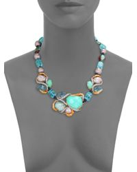 Alexis Bittar | Multicolor Multistone Beaded Strand Necklace for Men | Lyst