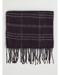 TOPMAN - Purple Checked Scarf for Men - Lyst