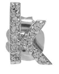KC Designs | Metallic White Gold Diamond K Single Stud Earring | Lyst