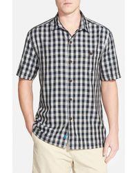 Tommy Bahama - Black 'bring 'em Gingham' Original Fit Silk Camp Shirt for Men - Lyst