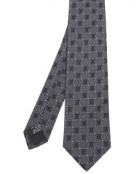 Jules B - Gray Silk Circle Patterned Tie for Men - Lyst