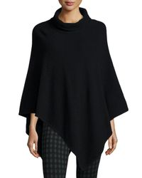 Joie - Black Loysse Mock-neck Knit Poncho - Lyst