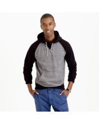 J.Crew - Black Colorblock Hoodie for Men - Lyst