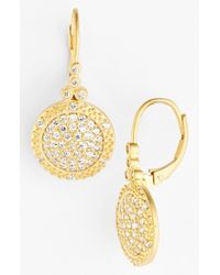Freida Rothman | Metallic 'the Standards' Pave Drop Earrings | Lyst