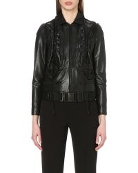 Undercover | Black Quilted Leather Biker Jacket | Lyst