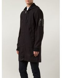 BLK DNM | Black Longlined Wool-Blend Parka for Men | Lyst